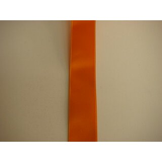 Satinband/ orange/ 16 mm