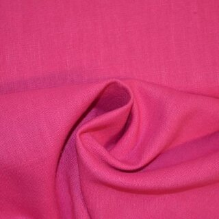 Ramie - Leinen uni pink