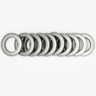 Deko-Ringe edelstahl matt