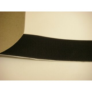 Hakenband/ selbstklebend/ schwarz/ 50 mm