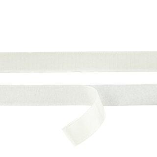 Flauschband/ selbstklebend/ weiß/ 20 mm