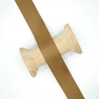 Ripsband/ hellbraun ab 10 mm