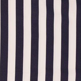 Baumwollstoff schwer Streifen breit dunkelblau