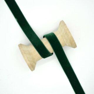 Samtband/ dunkelgrün ab 5 mm