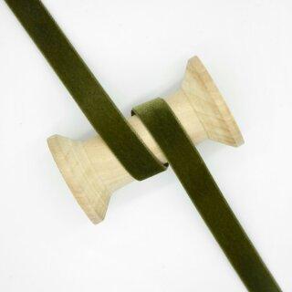 Samtband/ oliv ab 5 mm