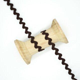 Zackenlitze 10 mm/ dunkelbraun