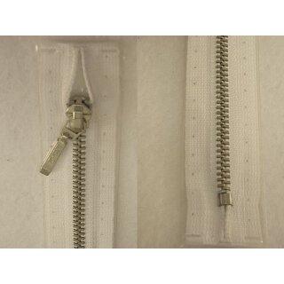 Taschen und Pulli RV/ Metallprofil silber/ 16 cm/ weiß
