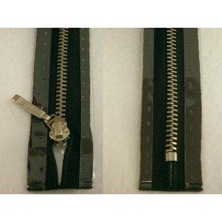 Taschen und Pulli RV/ Metallprofil silber/ 14 cm/ schwarz