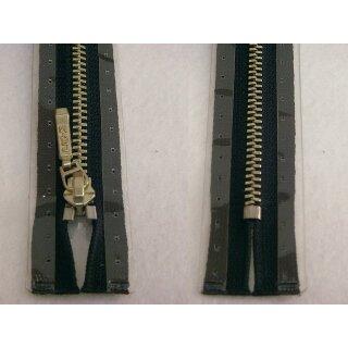 Taschen und Pulli RV/ Metallprofil silber/ 14 cm/ marine