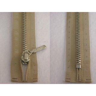 Taschen und Pulli RV/ Metallprofil silber/ 14 cm/ beige
