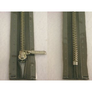 Taschen und Pulli RV/ Metallprofil silber/ 18 cm/ grau