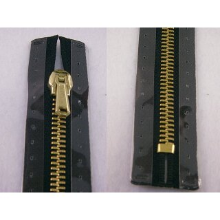 Taschen und Pulli RV/ Metallprofil gold/ 18 cm/ schwarz