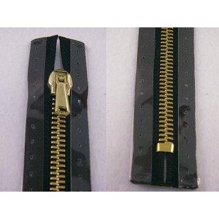Taschen und Pulli RV/ Metallprofil gold/ 20 cm/ schwarz