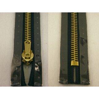 Taschen und Pulli RV/ Metallprofil gold/ 16 cm/ marine