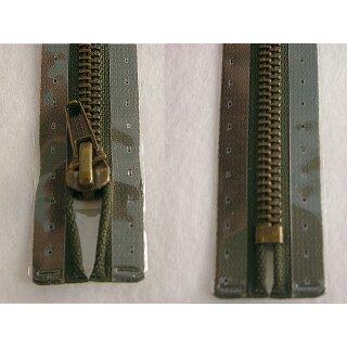 Taschen und Pulli RV/ Metallprofil altmessing/ 20 cm/ oliv
