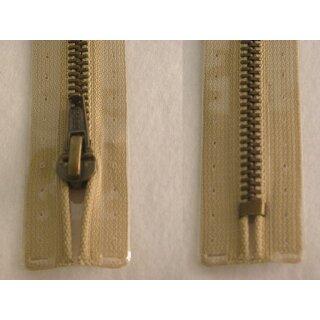 Taschen und Pulli RV/ Metallprofil altmessing/ 20 cm/ beige