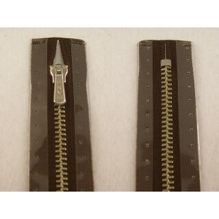 RV geschlossen/ 4 mm Metallprofil silber/ 16 cm/ dunkelbraun