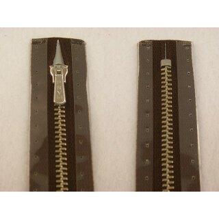 RV geschlossen/ 4 mm Metallprofil silber/ 20 cm/ dunkelbraun
