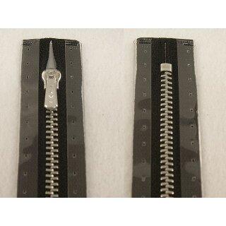 RV geschlossen/ 4 mm Metallprofil silber/ 20 cm/ schwarz