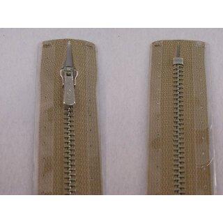 RV geschlossen/ 4 mm Metallprofil silber/ 20 cm/ beige