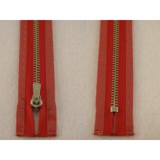 RV geschlossen/ 4 mm Metallprofil silber/ 16 cm/ rot