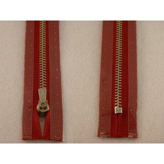 RV geschlossen/ 4 mm Metallprofil silber/ 16 cm/ dunkelrot