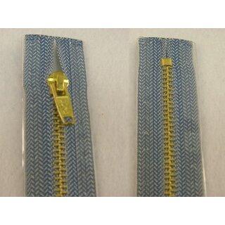 RV geschlossen/ 4 mm Metallprofil gold/ 20 cm/ jeans hell