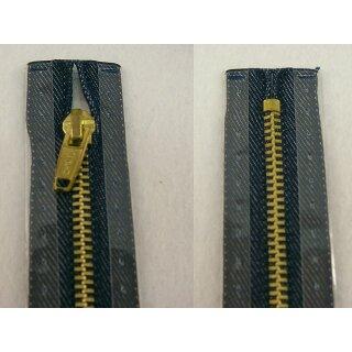 RV geschlossen/ 4 mm Metallprofil gold/ 20 cm/ jeans dunkel