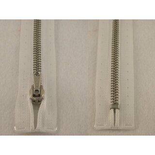 RV geschlossen/ 6 mm Metallprofil silber/ 18 cm/ weiß