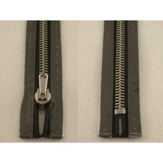 RV geschlossen/ 6 mm Metallprofil silber/ 20 cm/ schwarz