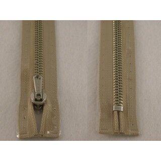 RV geschlossen/ 6 mm Metallprofil silber/ 18 cm/ beige