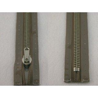 RV geschlossen/ 6 mm Metallprofil silber/ 20 cm/ mittelbraun