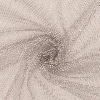 Lurex - Tüll fest silber