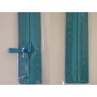 RV geschlossen/ 4 mm nahtfein Kunststoffspirale/ 30 cm/ türkis