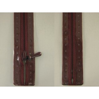 RV geschlossen/ 4 mm nahtfein Kunststoffspirale/ 30 cm/ bordeaux