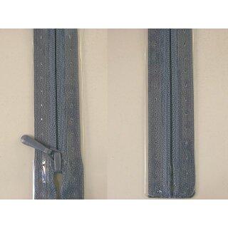 RV geschlossen/ 4 mm nahtfein Kunststoffspirale/ 30 cm/ graublau