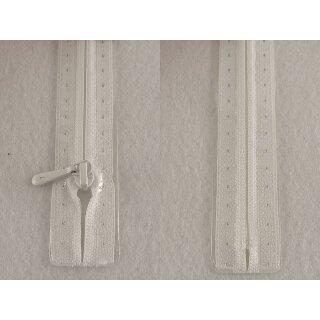 RV geschlossen/ 4 mm nahtfein Kunststoffspirale/ 40 cm/ weiß