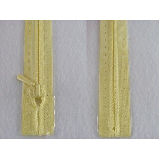 RV geschlossen/ 4 mm nahtfein Kunststoffspirale/ 50 cm/ hellgelb