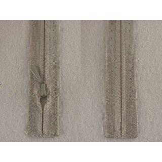 RV geschlossen/ 4 mm nahtfein Kunststoffspirale/ 30 cm/ hellgrau