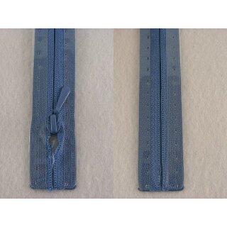 RV geschlossen/ 4 mm nahtfein Kunststoffspirale/ 40 cm/ mittelblau