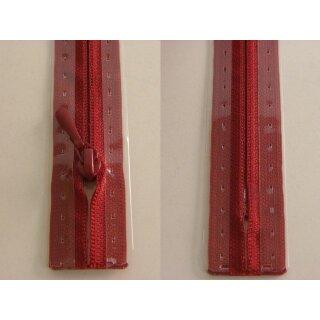 RV geschlossen/ 4 mm nahtfein Kunststoffspirale/ 50 cm/ kirschrot