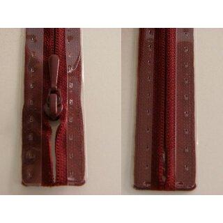 RV geschlossen/ 4 mm nahtfein Kunststoffspirale/ 40 cm/ bordeaux