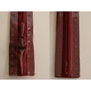 RV geschlossen/ 4 mm nahtfein Kunststoffspirale/ 60 cm/ bordeaux
