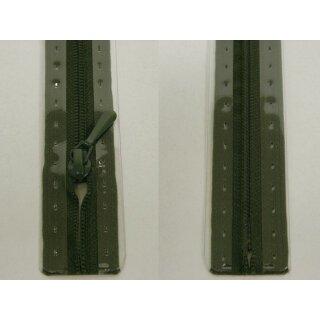 RV geschlossen/ 4 mm nahtfein Kunststoffspirale/ 40 cm/ oliv