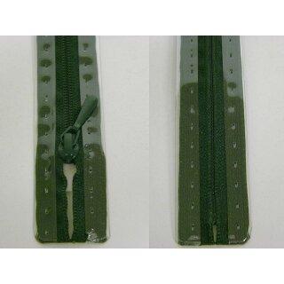 RV geschlossen/ 4 mm nahtfein Kunststoffspirale/ 30 cm/ dunkelgrün