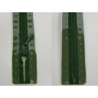 RV geschlossen/ 4 mm nahtfein Kunststoffspirale/ 60 cm/ dunkelgrün