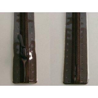 RV geschlossen/ 4 mm nahtfein Kunststoffspirale/ 50 cm/ dunkelbraun