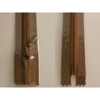 RV geschlossen/ 4 mm nahtfein Kunststoffspirale/ 40 cm/ braun