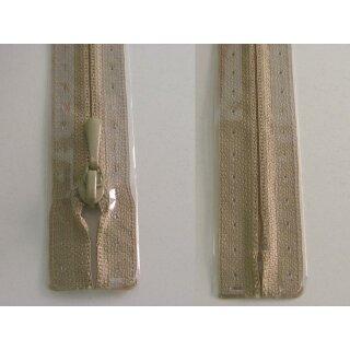 RV geschlossen/ 4 mm nahtfein Kunststoffspirale/ 30 cm/ beige