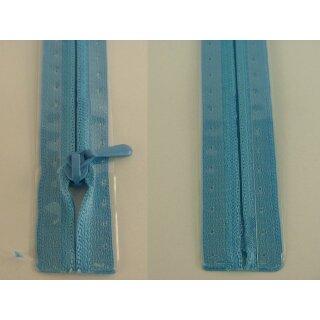 RV geschlossen/ 4 mm nahtfein Kunststoffspirale/ 50 cm/ cyan